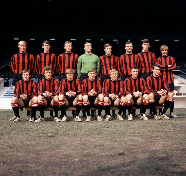 Manchester City team photo from April 1969