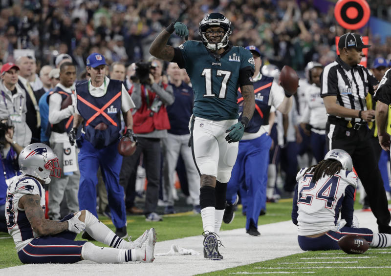 Philadelphia Eagles wide receiver Alshon Jeffery said his team would win Super Bowl LII, and he was right. (AP)