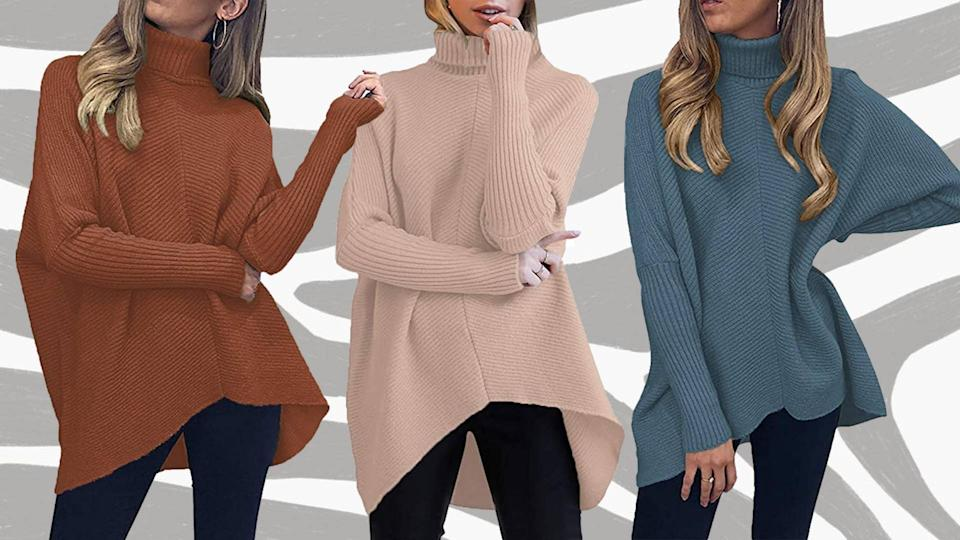 Yes, you'll be able to get away with the most absurdly flamboyant pose-striking with this gorge sweater.  (Photo: Amazon)