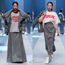<p>Models wear shirts and tees that highlight the #MeToo movement, part of the Miss Gee Collection runway show during Seoul Fashion Week. (Photo: Instagram/missgeecollection) </p>
