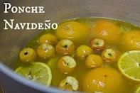 """<div class=""""caption-credit"""">Photo by: Maura Hernandez</div><b>Ponche Navideño</b> <br> This Mexican holiday punch will be sure to give you a warm and fuzzy feeling. Every family tends to have their own variation on this recipe, but it always includes Guayabas, Orange, Cinnamon sticks, sugar cane, and dried plums, and it is always a delicious crowd favorite at a holiday party. <i>- Maura Hernandez, The Other Side of the Tortilla</i> <br> <i><a href=""""http://www.babble.com/best-recipes/nine-traditional-recipes-for-a-latin-christmas/#ponche-navideno"""" rel=""""nofollow noopener"""" target=""""_blank"""" data-ylk=""""slk:Get the recipe"""" class=""""link rapid-noclick-resp"""">Get the recipe</a></i> <br> <b><i><a href=""""http://www.babble.com/best-recipes/hanukkah-recipes-2/?cmp=ELP bbl lp YahooShine Main  100112   famE   """" rel=""""nofollow noopener"""" target=""""_blank"""" data-ylk=""""slk:Related: 19 of Hanukkah's greatest food hits"""" class=""""link rapid-noclick-resp"""">Related: 19 of Hanukkah's greatest food hits</a></i></b>"""