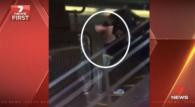 The man was taken from Hawthorn station in police custody. Source: 7News