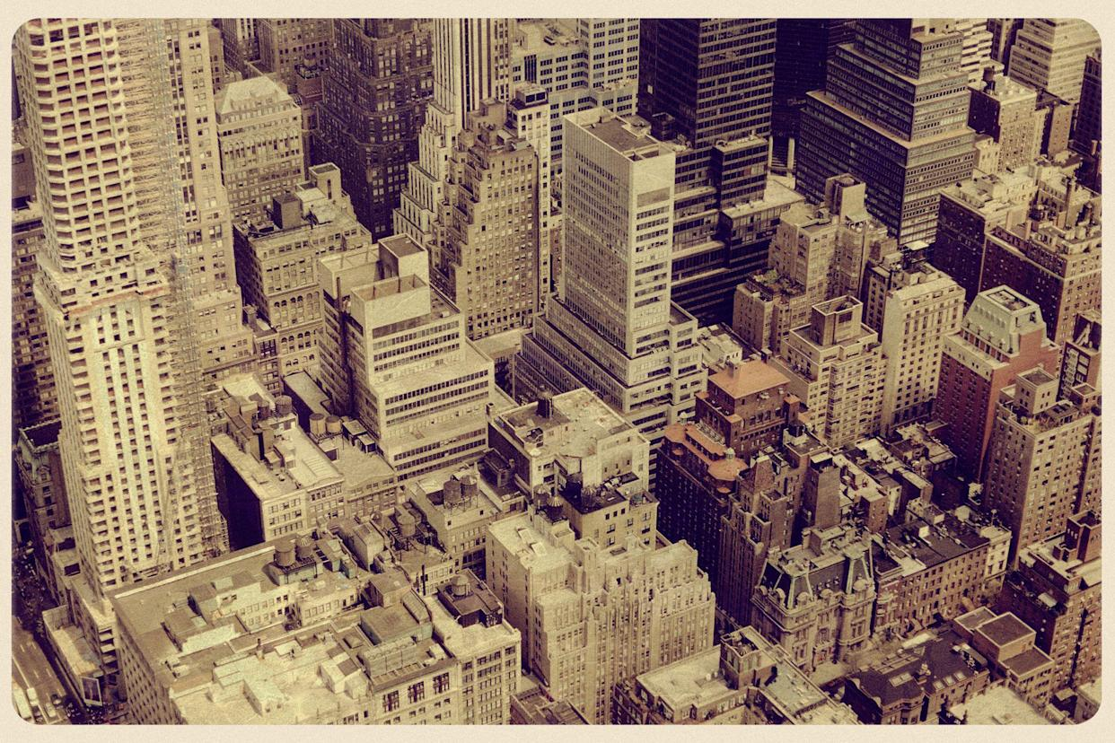 View from the Empire State Building Vintage Postcard