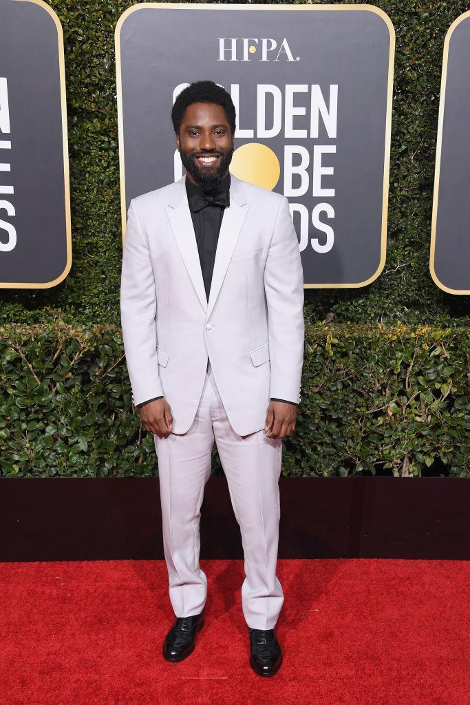 <p><em>BlacKkKlansman</em> star John David Washington, one of the night's nominees, attends the 76th Annual Golden Globe Awards at the Beverly Hilton Hotel in Beverly Hills, Calif., on Jan. 6, 2019. (Photo: Getty Images) </p>
