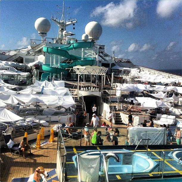 Tent city on Carnival Triumph