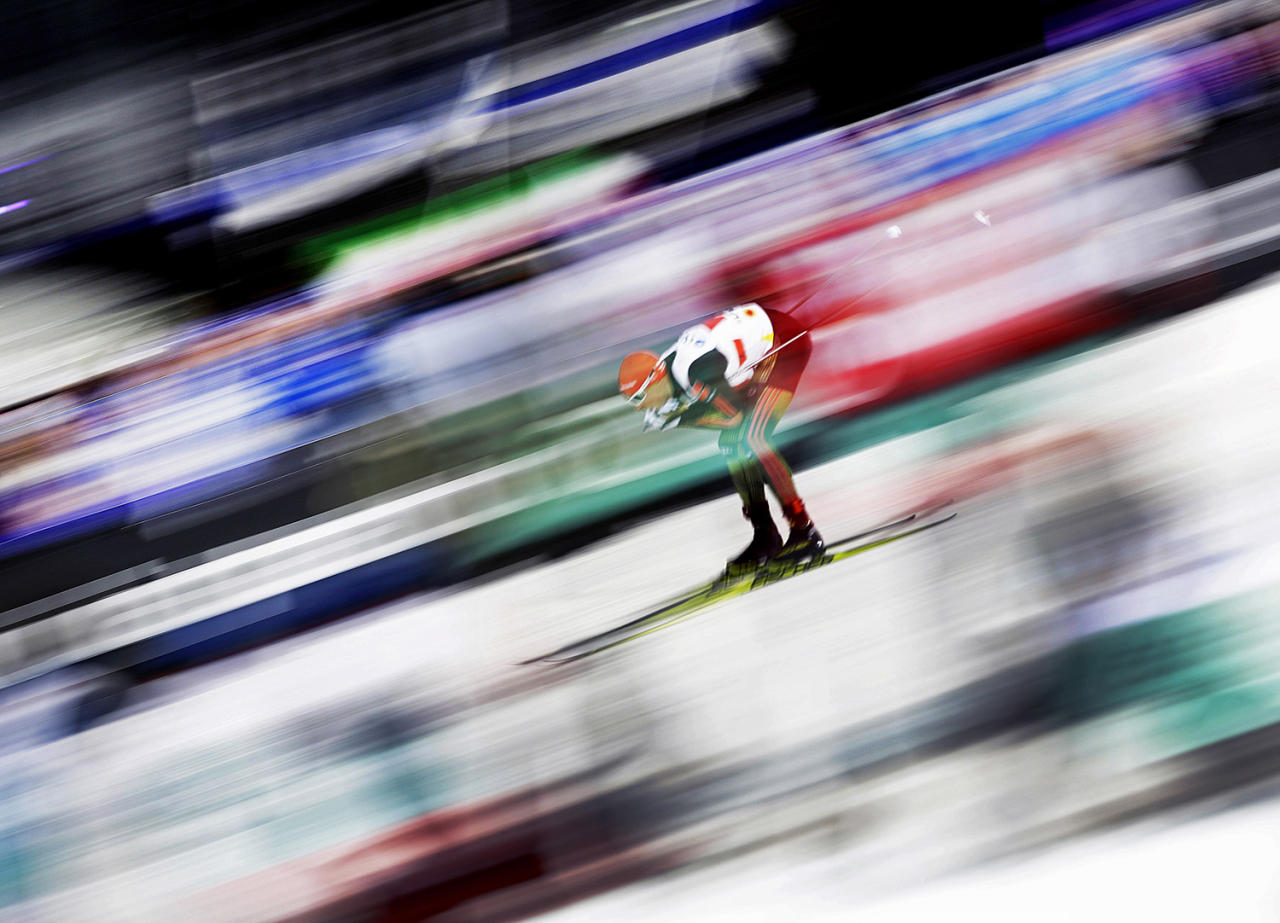 <p>Germany's Eric Frenzel competes in the men's nordic combined team sprint at the 2017 Nordic Skiing World Championships in Lahti, Finland, Friday, March 3, 2017. (AP Photo/Matthias Schrader) </p>