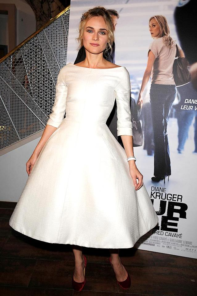 """Is that Diane Kruger or The Flying Nun? Pascal Le Segretain/<a href=""""http://www.gettyimages.com/"""" target=""""new"""">GettyImages.com</a> - November 30, 2008"""