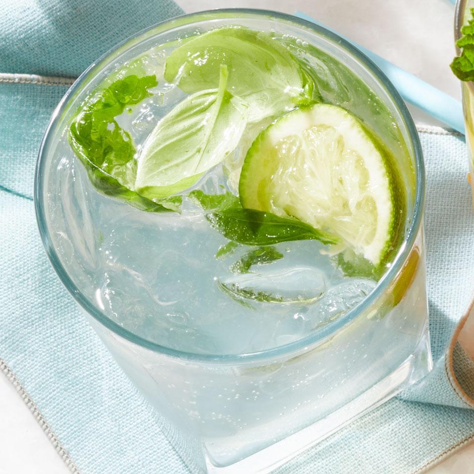 <p>This easy low-alcohol cocktail keeps things fresh with whole limes and basil leaves. It's a twist on the caipirinha that subs white vermouth and vodka for the traditional cachaça, the fermented sugarcane liquor popular in Brazil, and features basil instead of the usual mint.</p>