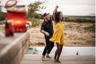 <p>Who needs a nightclub? Have a silent disco party in an open space when you share a set of earbuds. Salsa or swing dancing can work. But, then, so can a two-step. </p>
