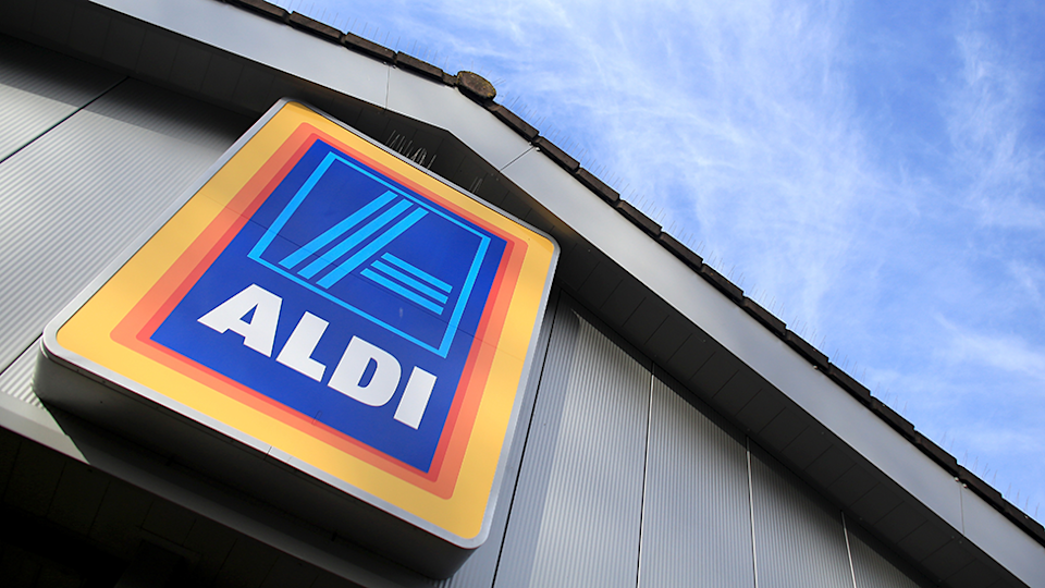 Aldi shop sign Australia