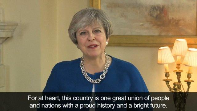 Theresa May criticised for saying country is united after Brexit