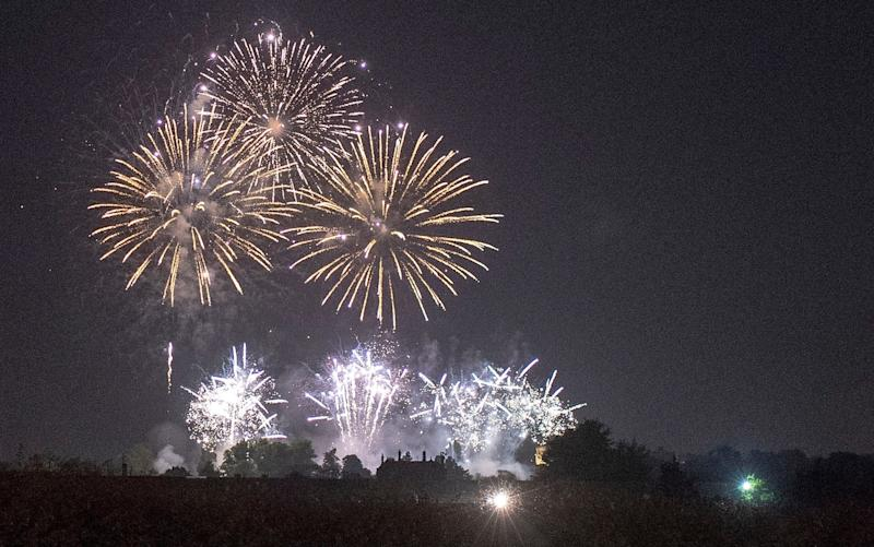 Fireworks from the Frogmore House party lit up the night sky over Windsor - Steve Finn