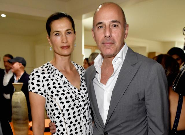 Better times: Annette Roque and Matt Lauer attend an event in the Hamptons, Aug. 12, 2017. (Photo: Kevin Mazur/Getty Images for the Apollo)