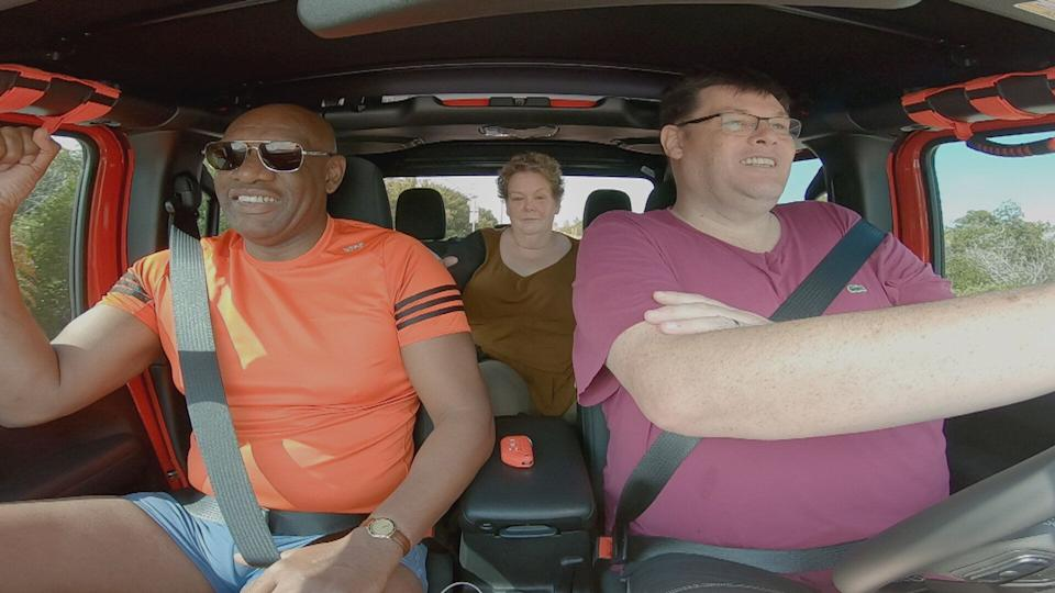 The trio take a drive across America in their new travel show (Photo: ITV)