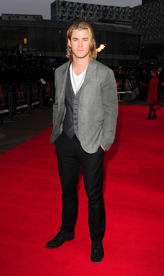 Hunger Games UK premiere photos: Chris Hemsworth.