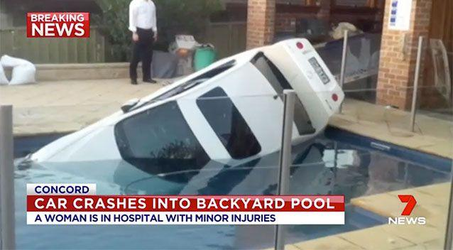 The driver was treated for minor injuries. Source: 7 News