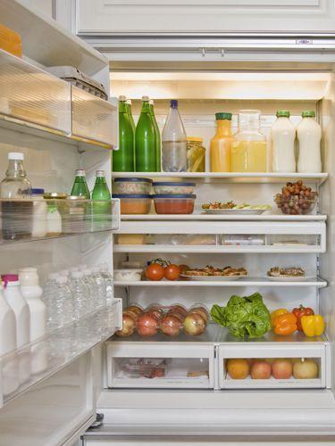 <p>Line the bottom of your refrigerator's crisper drawer with paper towels. They'll absorb the excess moisture that causes veggies to rot.</p>