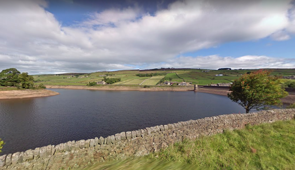 Ponden Reservoir, near Haworth, Bradford, where a 27-year-old man's body was recovered Tuesday evening (Google Maps)