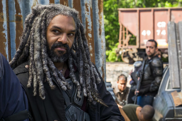 <p>Khary Payton as Ezekiel in AMC's <i>The Walking Dead</i>.<br>(Photo: Gene Page/AMC) </p>