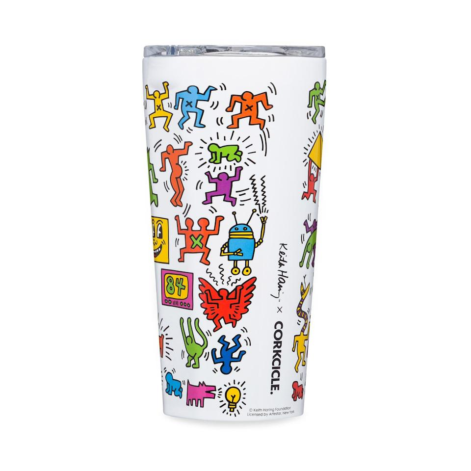 """<p><strong>Keith Haring x Corkcicle</strong></p><p>moma.org</p><p><strong>$50.00</strong></p><p><a href=""""https://store.moma.org/for-the-home/kitchen-dining/drinkware/keith-haring-travel-mug/11037-150077.html"""" rel=""""nofollow noopener"""" target=""""_blank"""" data-ylk=""""slk:Shop Now"""" class=""""link rapid-noclick-resp"""">Shop Now</a></p><p>Your local landfill (and your dad) will thank you. </p>"""
