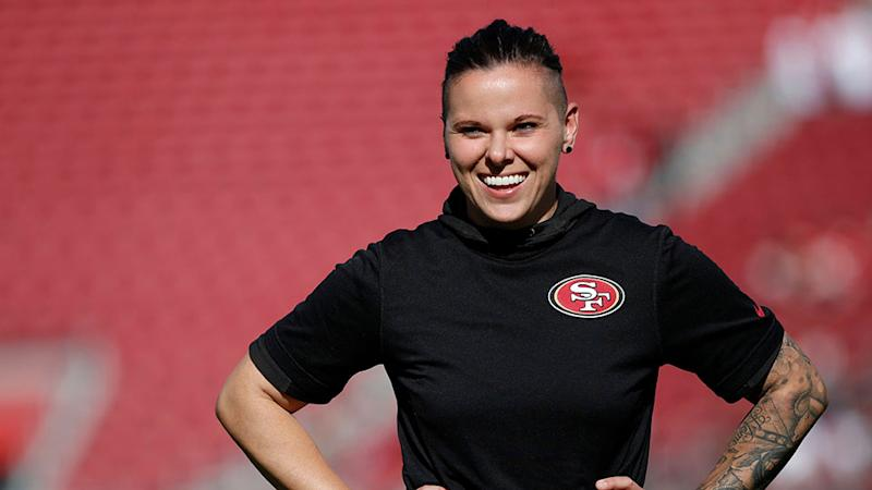 We're Obsessed With Katie Sowers, the First Woman & Openly Gay Super Bowl Coach