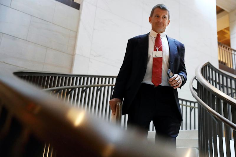 Blackwater founder Erik Prince arrives for a closed meeting with members of the House Intelligence Committee on Nov. 30, 2017, on Capitol Hill. (Photo: Jacquelyn Martin/ASSOCIATED PRESS)