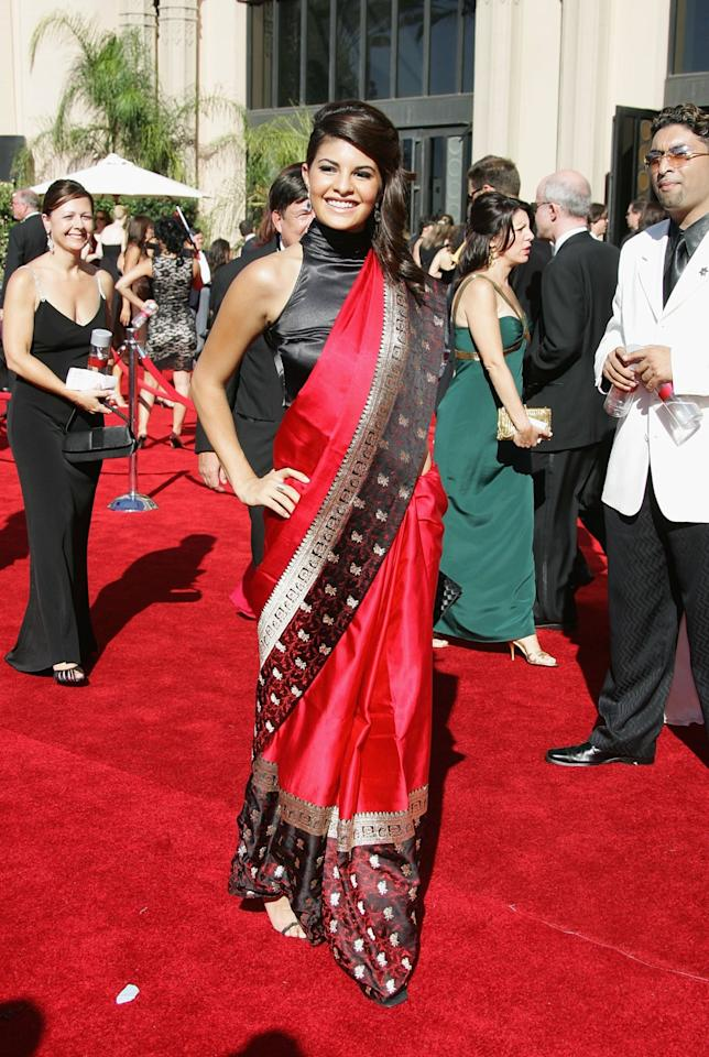 Miss Sri Lanka Jacqueline Fernandez arrives at the 58th Annual Primetime Emmy Awards at Shrine Auditorium on August 27, 2006 in Los Angeles, California.