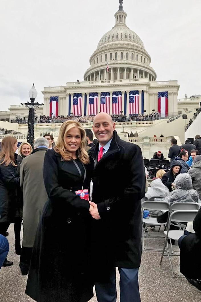 Jennifer and Barry Weisselberg at Trump's inauguration. (Courtesy of Jennifer Weisselberg)