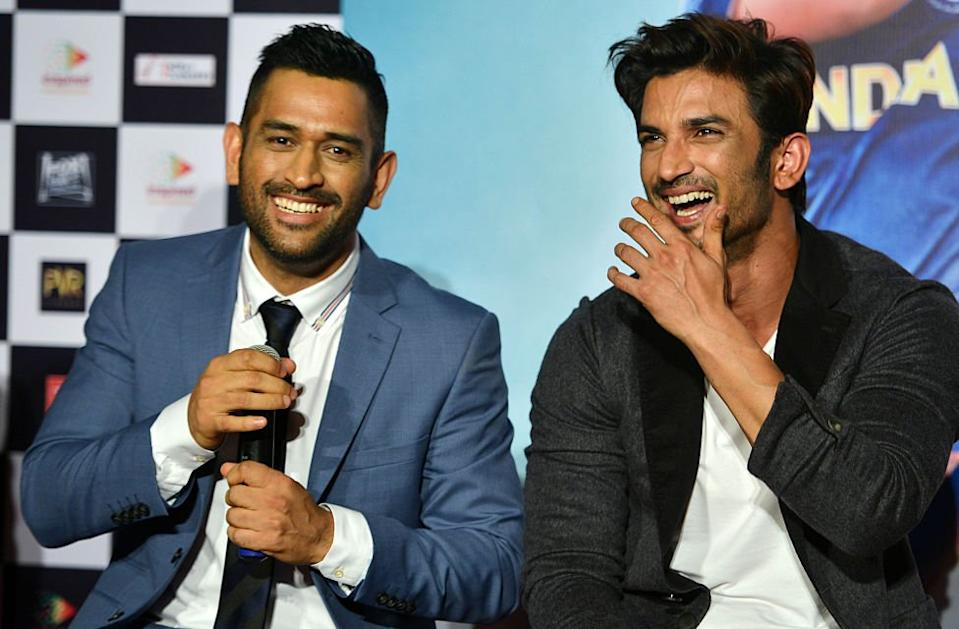 One of his hit films was a biopic of cricket legend MS Dhoni (left)