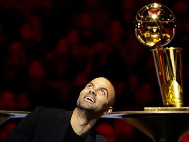 NBA: San Antonio Spurs retire French NBA star Tony Parker's number nine jersey in ceremony