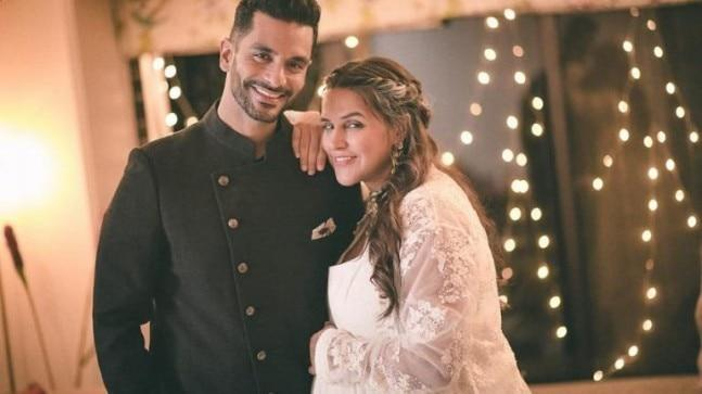 Neha Dhupia, who is currently in her third trimester, was pregnant before she married Angad Bedi.