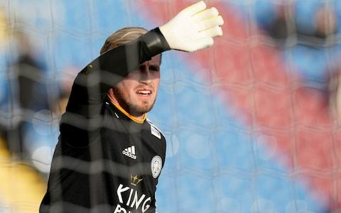 Schmeichel getting ready - Credit: REUTERS