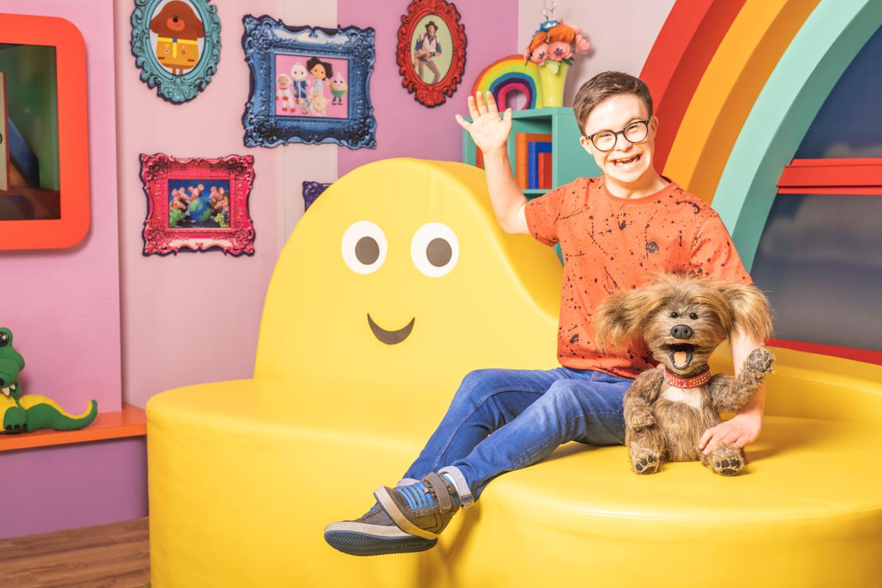 George Webster is excited to be working with Dodge in the CBeebies House. (BBC)