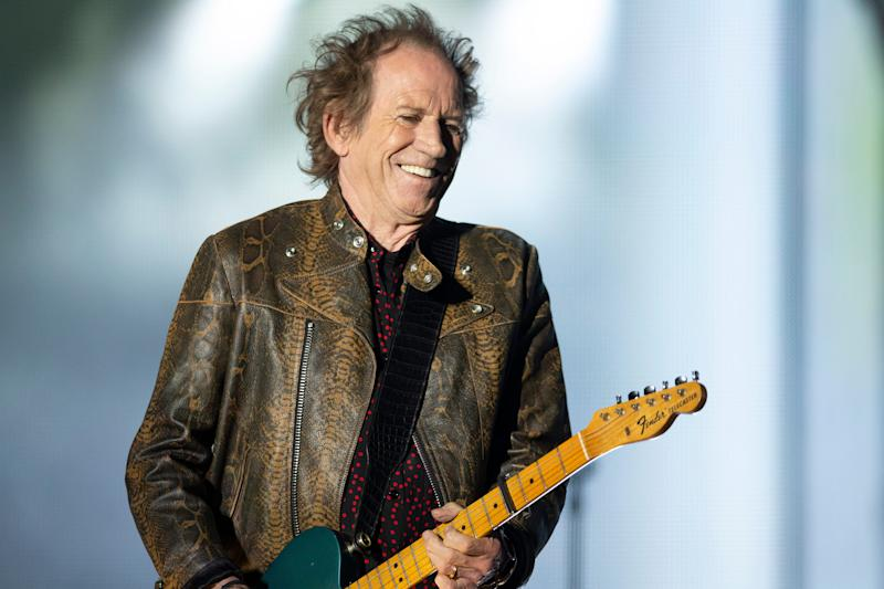 Rolling Stones guitarist Keith Richards performs at Soldier Field in Chicago on Friday.