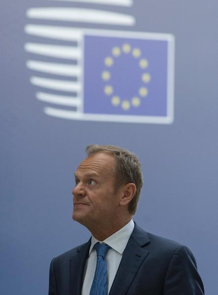 European Council president Donald Tusk admits he is still holding out hopes that Brexit can somehow be reversed (AFP Photo/OLIVIER HOSLET)