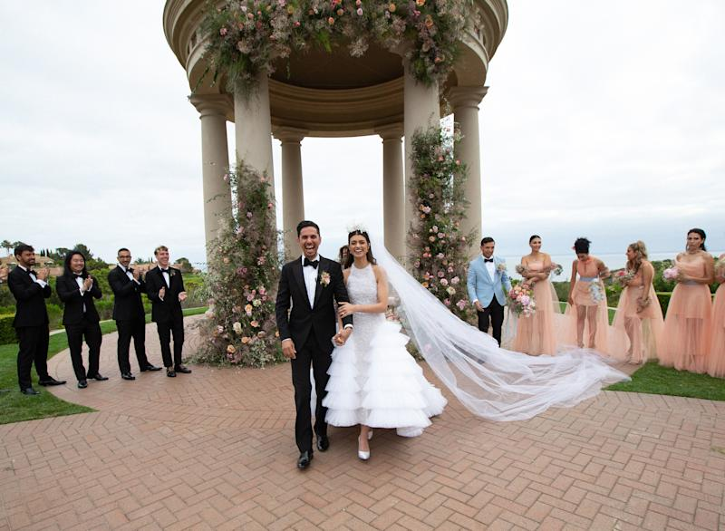 This Bride Wore Chanel Haute Couture to Her Garden Wedding in California