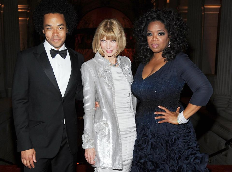<p><strong>The theme: </strong>American Woman: Fashioning a New Identity </p> <p><strong>The co-chairs:</strong> Patrick Robinson, Anna Wintour and Oprah Winfrey </p>