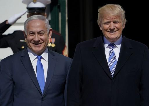 US President Donald Trump welcomes Israeli Prime Minister Benjamin Netanyahu to the White House on March 5, 2018 in Washington, DC