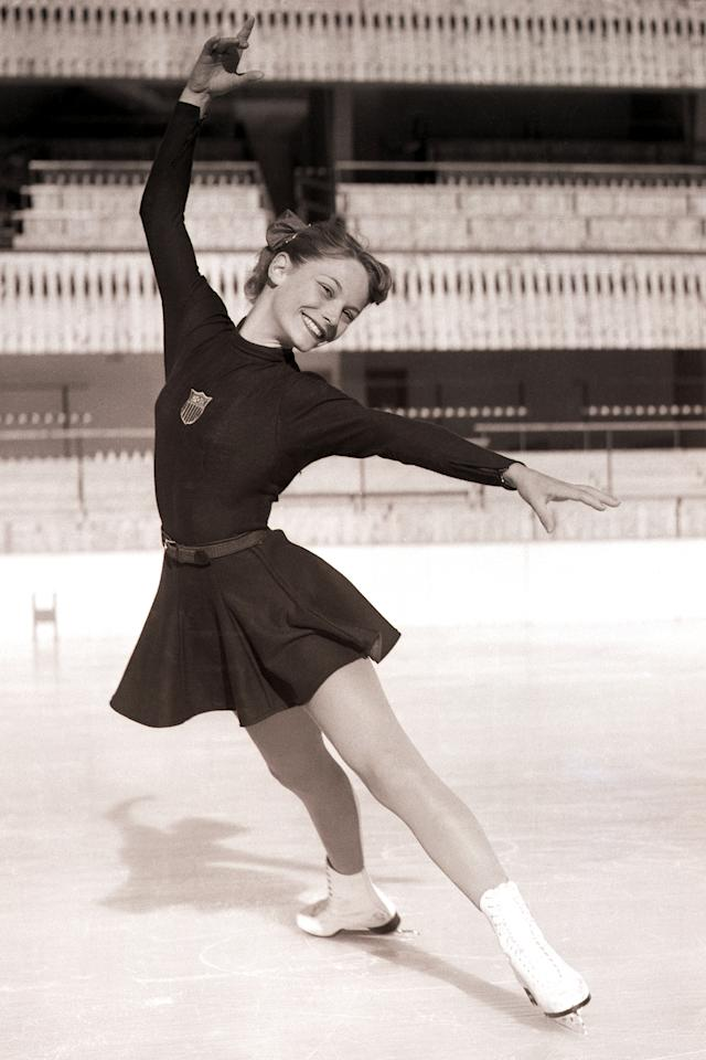 "<p>American skater Heiss dominated women's figure skating during her competitive career with her elegant moves, winning both the <a rel=""nofollow"" href=""https://web.archive.org/web/20120209010047/http://www.xcelenergycenter.com/uploads/assets/saintpaul2008/news/Past%20U.S.%20Champions.pdf"">U.S.</a> and World Championships each year leading up to the 1960 Winter Olympics. She is also the first female skater to land a double axel jump, which she did in 1953. After retiring from competitive skating, she delved into <a rel=""nofollow"" href=""http://www.imdb.com/name/nm0374707/"">acting</a>. </p>"