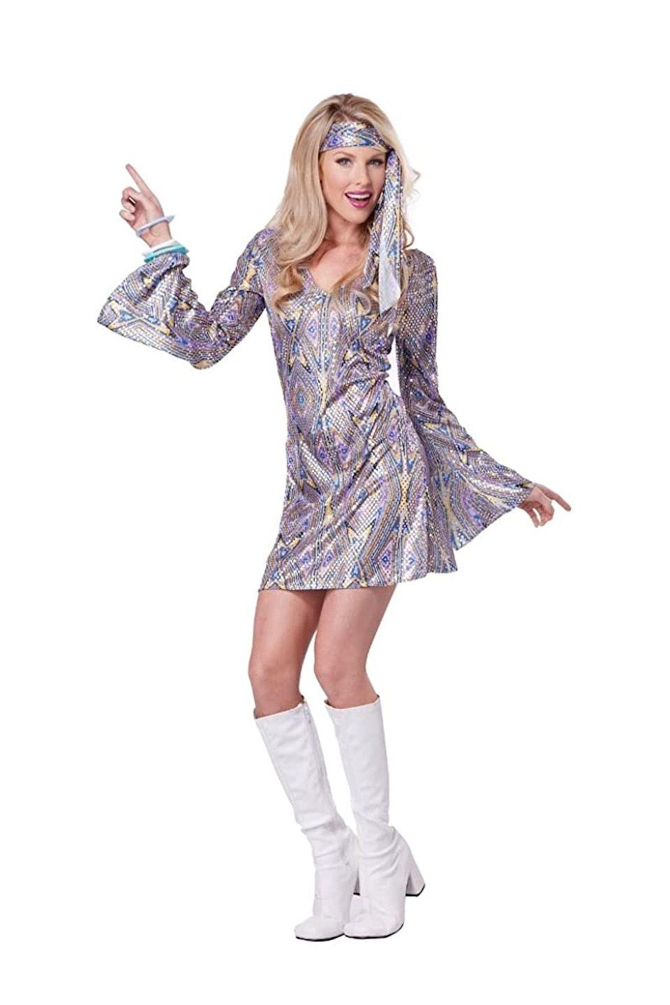 """<p><strong>California Costumes</strong></p><p>amazon.com</p><p><a href=""""http://www.amazon.com/dp/B00R9X97WI?tag=syn-yahoo-20&ascsubtag=%5Bartid%7C10050.g.22500148%5Bsrc%7Cyahoo-us"""" rel=""""nofollow noopener"""" target=""""_blank"""" data-ylk=""""slk:Shop Now"""" class=""""link rapid-noclick-resp"""">Shop Now</a></p><p>Boogie down in a groovy disco costume like this. </p>"""