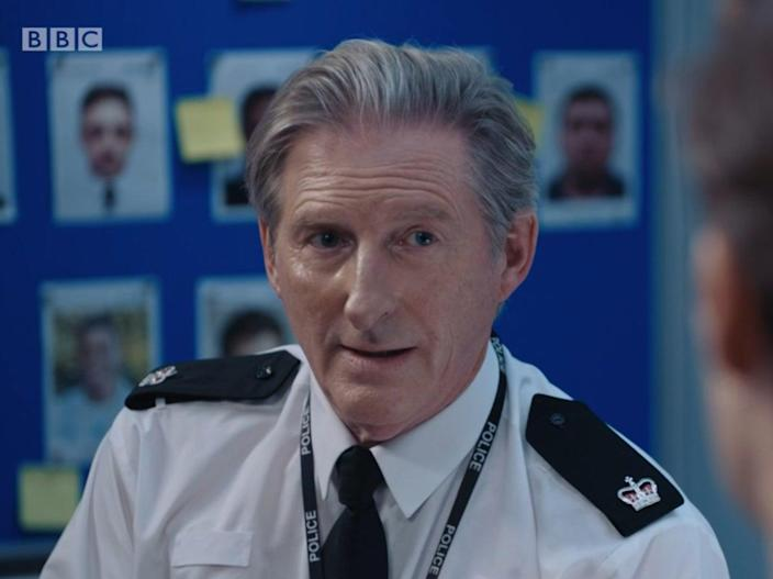 Adrian Dunbar as Ted Hastings in the latest episode of Line of Duty (BBC)