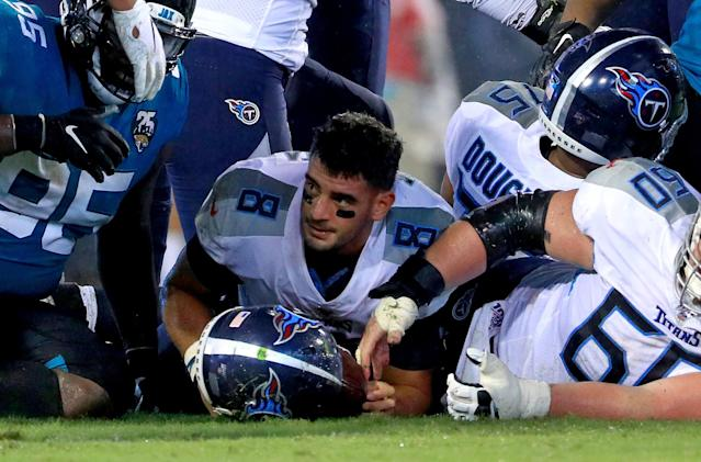Marcus Mariota struggled against the Jaguars in Week 3. (Getty Images)