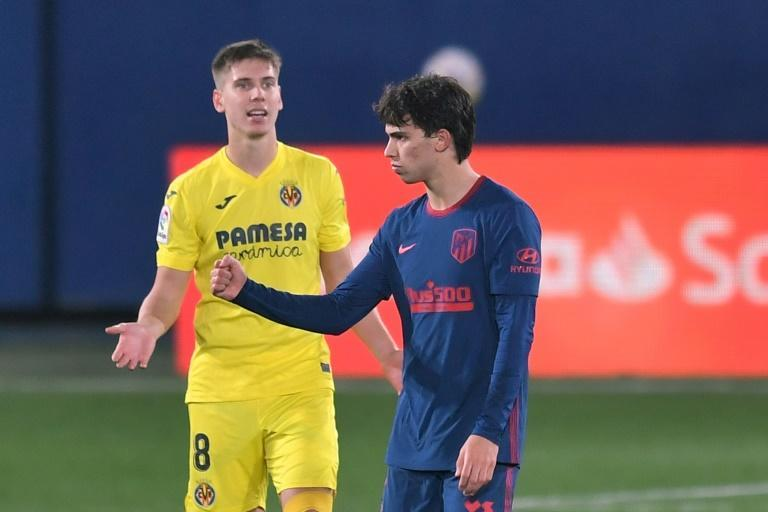 Joao Felix (R) was dropped to the bench but came on to score as Atletico Madrid beat Villarreal to get their Spanish title bid back on track