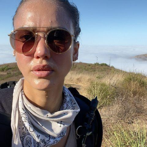 """<p>Keeping it real with a sweaty hike selfie, Jessica's skin is still as healthy and dewy as ever.</p><p><a href=""""https://www.instagram.com/p/CF5Aw9alite/?igshid=15lvbb7k4k6ls"""" rel=""""nofollow noopener"""" target=""""_blank"""" data-ylk=""""slk:See the original post on Instagram"""" class=""""link rapid-noclick-resp"""">See the original post on Instagram</a></p>"""