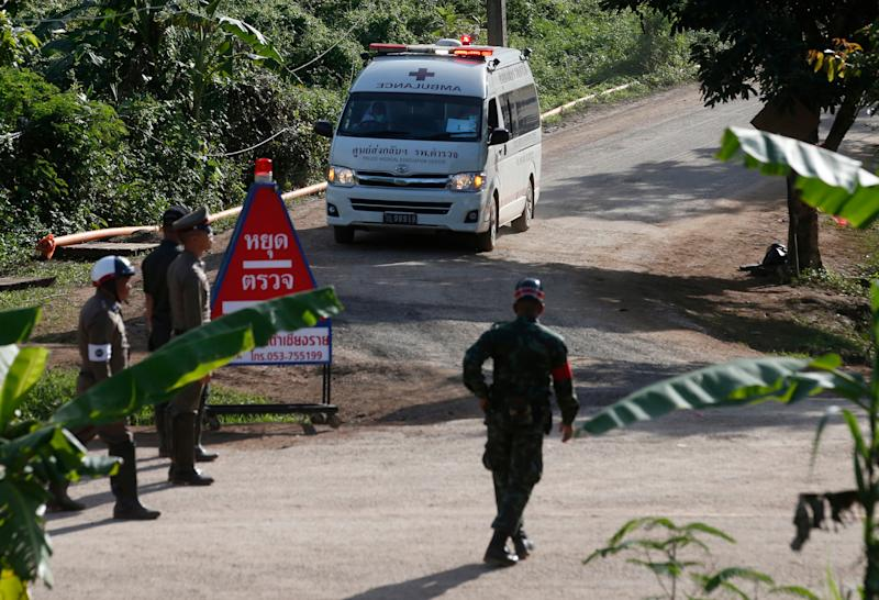Third rescue mission underway at Thai cave aims to rescue all left