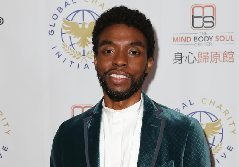 Chadwick Boseman attends the Global Charity Initiative Benefit at The Beverly Hilton Hotel on October 27, 2019. (Photo by Paul Archuleta/Getty Images)
