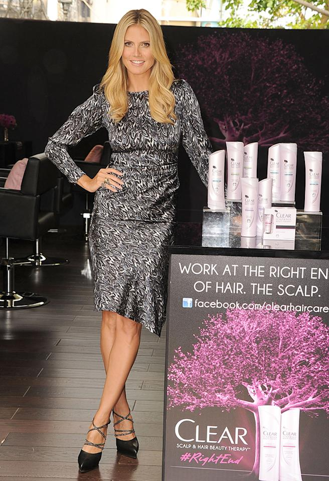 LOS ANGELES, CA - MAY 01:  Heidi Klum Appearance For Clear Scalp & Hair Beauty Therapy at The Grove on May 1, 2013 in Los Angeles, California.  (Photo by Steve Granitz/WireImage)