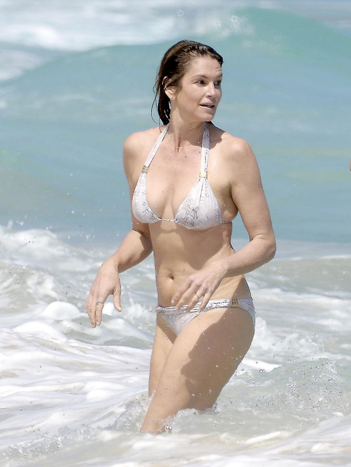 <p>At this point, the 51-year-old supermodel is just bragging, right? Yes, Cindy, we <em>all</em> know you look amazing in a bikini anywhere and apparently, any year, so there's no need to prove it again in St. Barts. (Photo: Spread Pictures/AKM-GSI) </p>