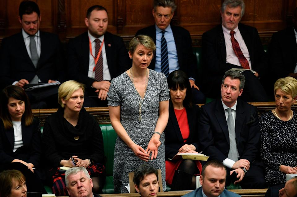 Yvette Cooper in the House of Commons on Tuesday (AP)