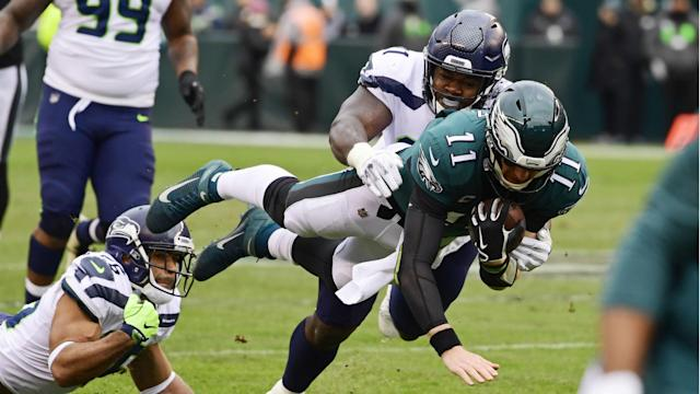 The Seattle Seahawks maintained their perfect record on the road at the expense of the misfiring Philadelphia Eagles.